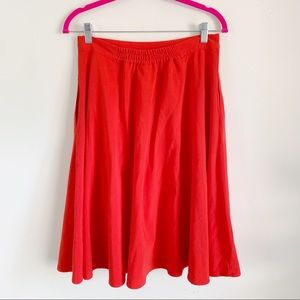 ModCloth Red Full Round Skirt Lined Women's Large